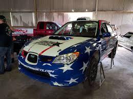 custom subaru wrx dirty racing parts sti rally car livery skepple inc