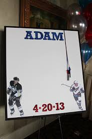 bat mitzvah sign in boards hockey bar and bat mitzvah ideas it up
