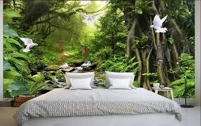 plante verte dans une chambre 3d chambre papier peint personnalisé photo non tissé plante verte