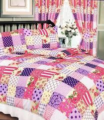 Patchwork Duvet Sets Changingbedrooms Com Double Size Vintage Purple Berry Floral