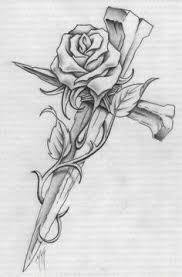 cross with roses tatoos 3 tatting