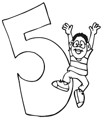 birthday coloring pages boy birthday coloring page a boy jumping beside the number 5