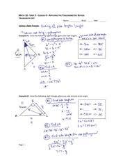 Trigonometric Ratios Study Resources Course Hero