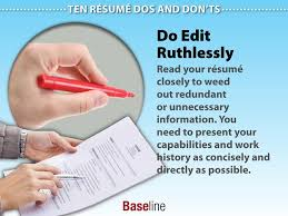 Resume Dos And Donts