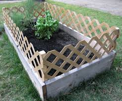 amazing decoration raised garden bed with fence 2 two raised