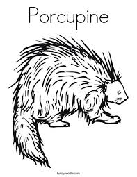 porcupine coloring page from twistynoodle com letter pp