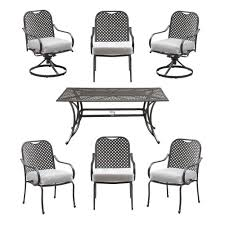 Hampton Bay Patio Dining Set - hampton bay fall river 7 piece patio dining set with cushion