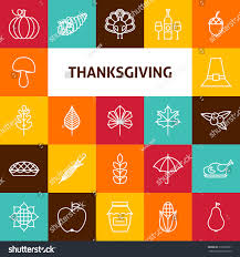 line thanksgiving day icons stock vector 316993031