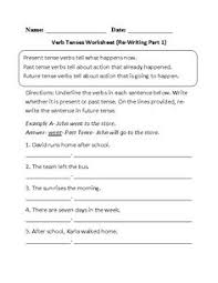 converting present to past verb tenses worksheet verbs