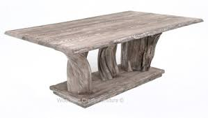 driftwood dining room table magnificent log dining furniture table reclaimed wood tables in