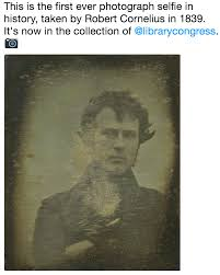 First Meme Ever - this is the first ever photograph selfie in history taken by