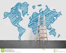 World Wall Map by World Map On Wall Stock Photos Image 36185553