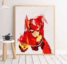 aliexpress com buy superhero watercolor splash canvas art print