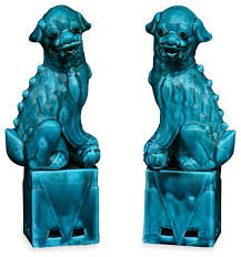 foo dogs for sale porcelain blue foo dogs asian decorative objects and figurines