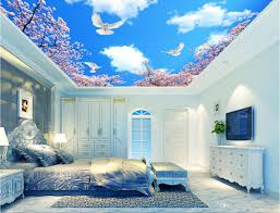 3d wall murals wallpaper for walls 3 d ceiling murals wallpaper 3d wall murals wallpaper for walls 3 d ceiling murals wallpaper custom photo non woven mural sky clouds cherry trees decoration painting hd wallpapers i hd
