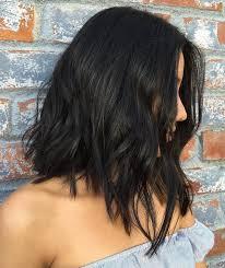 lob haircut dark wavy hair 60 most beneficial haircuts for thick hair of any length lob