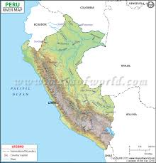 peru on map river map
