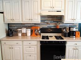 painting kitchen backsplash how to paint a backsplash to look like tile