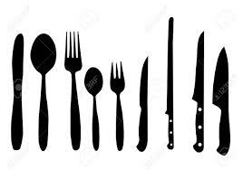 Kitchen Forks And Knives Spoon Knife And Fork Vector Illustration For Design Royalty Free