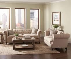livingroom furniture set coaster trivellato 2 button tufted sofa set oatmeal