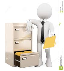 Folders For Filing Cabinet 3d White People File Cabinet Royalty Free Stock Image Image