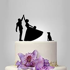 high five cake topper highfive wedding cake topper with and groom silhouette with