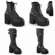 s boots with buckles demonia assault 100 101 202 203 s black studded buckles