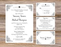 ideas insert cards for wedding invitations simple creation