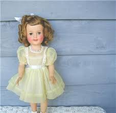 1950 u0027s ideal shirley temple doll wash and wear dress tag
