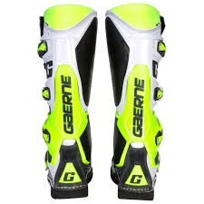 gaerne motocross boots gaerne sg 12 boots white yellow grey sixstar racing
