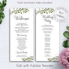 template for wedding ceremony program best wedding ceremony program templates products on wanelo
