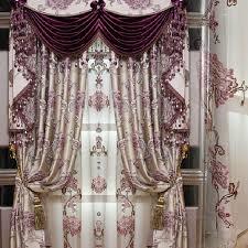 Custom Blackout Drapes Custom Pearl Pink Floral Leaf Polyester Cotton Blend Blackout Curtains
