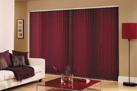 interior maroon vertical blinds for sliding glass door combined