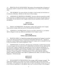 sample operating agreements sample operating agreement llc