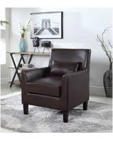 Brown Leather Accent Chair Spectacular Deal On Best Master Furniture 577 Faux Leather Tub