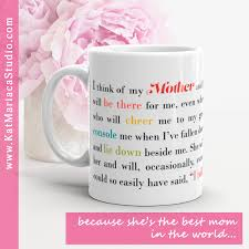best gifts for mom coffee mug for mom i think of my mother