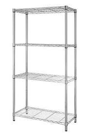 Metal Wire Shelving by 4 Tire Shelf Adjustable Steel Metal Wire Shelving Storage Rack