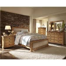 Progressive Furniture Willow Distressed Finish Wall Unit With - Bedroom furniture wall unit
