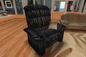 second life marketplace blaze u0027s recliner chair black furniture
