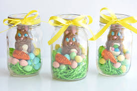 easter bunny gifts jar easter gifts chocolate bunny jars