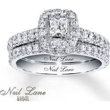 neil bridal set neil bridal set 1 ct tw diamonds 14k white gold from