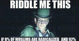 Riddler Meme - trump was right brutal truth about what happens in muslim countries