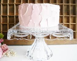 Crystal Pedestal Cake Stand Vintage Cake Stands Etsy