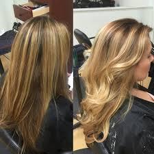 foil highlights for brown hair newport beach hair stylist color correction stripe blonde foil