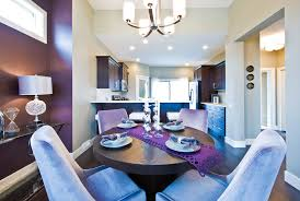 purple accent chair for contemporary dining room with wood