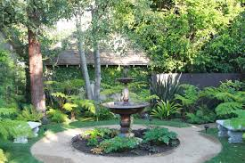 exterior design outdoor fountain in rustic landscape with pond