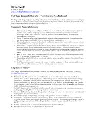 technical recruiter resume sample resume for your job application