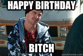 Happy Birthday Bitch Meme - happy birthday bitch jesse breaking bad quickmeme