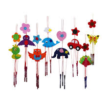 1pc diy campanula wind chime kids manual arts and crafts toys for