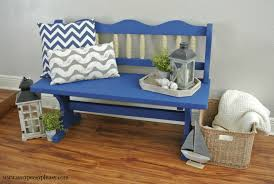 Beachy Dining Room Sets Bench Chalk Paint Bench Grain Sack Inspired Painted Bench Days
